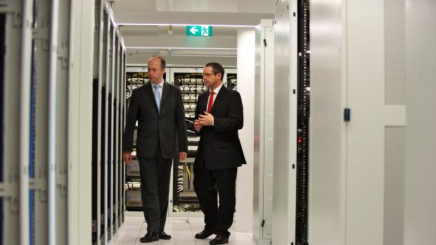 Victoria Minister for Technology Gordon Rich-Phillips seen here with former Minister for Communications Stephen Conroy ...