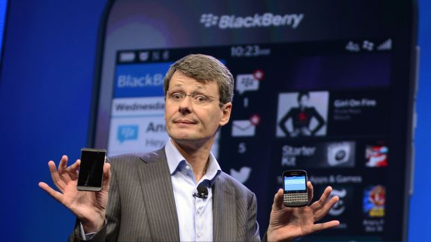 BlackBerry chief executive Thorsten Heins.