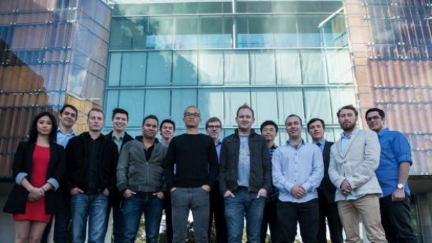 Incubate's winter batch with Incubate co-founder James Alexander, fourth from left.