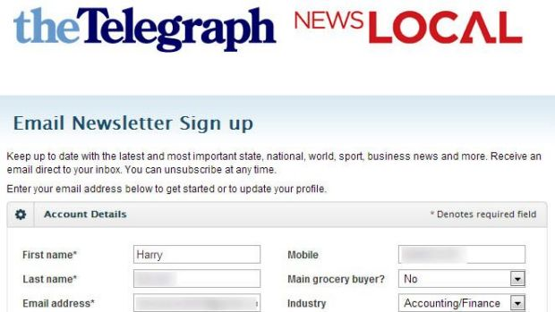 One of News Corp's subscriber's information the security expert was able to access.