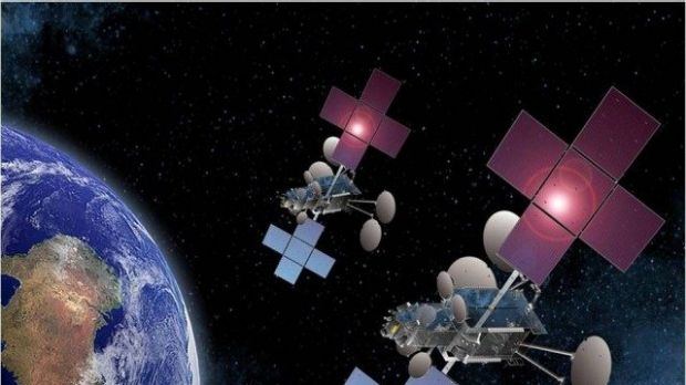 NBN Co plans to launch in 2015 two satellites (illustrated) that will provide extra capacity.