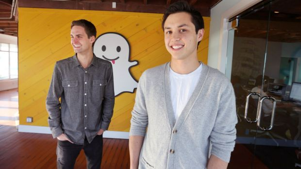 Snapchat co-founders Evan Spiegel and Bobby Murphy.