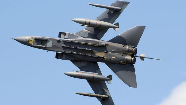 A RAF Tornado GR4 at an English air display.