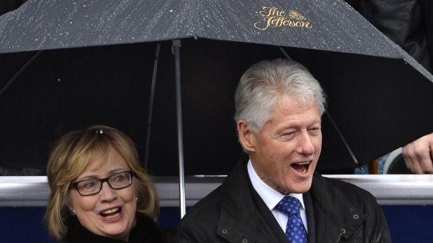 Hillary and Bill  Clinton.