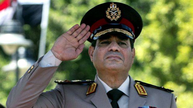 Egyptian Defence Minister Field Marshall Abdel Fattah al-Sisi.
