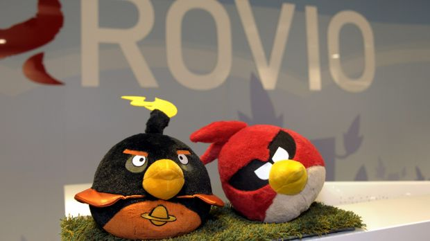 Hacked: The Angry Birds website was defaced following spying claims.