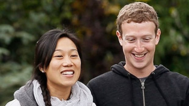 Priscilla Chan and husband Mark Zuckerberg.