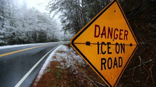 "US weather forecasters said a ""catastrophic"" winter storm threatened to bring a thick layer of ice to Georgia and other ..."