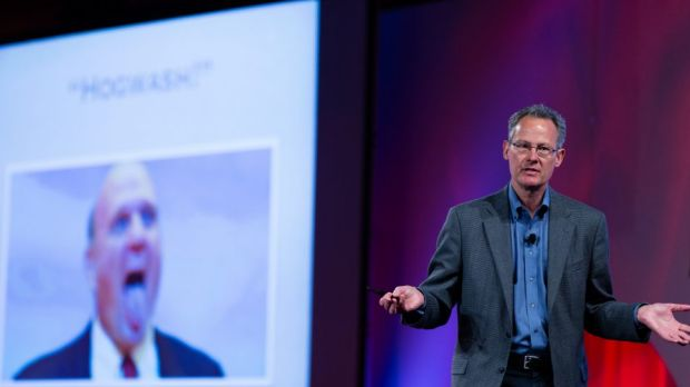 Author Nicholas Carr has a dig at Steve Ballmer's previous stance on cloud computing at the Parallels Summit last week.