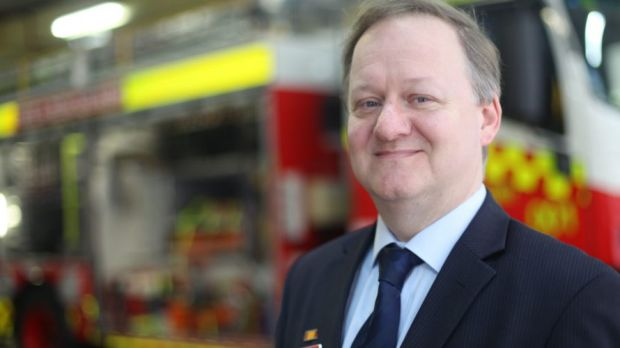 At the ready: Fire and Rescue NSW chief information officer Richard Host.