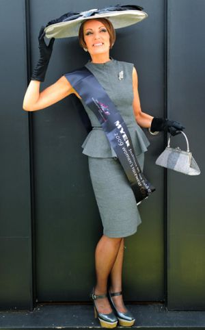 Sarah Kelly displays her winning entry.