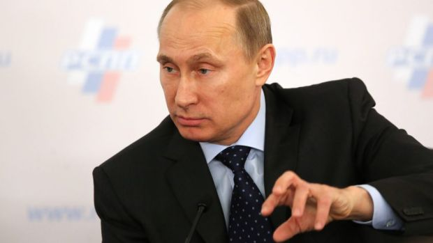 Vladimir Putin has said his country reserves the right to stand up for ethnic Russians living outside its borders.