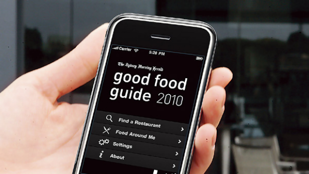 Good Food Guide app for the iPhone.