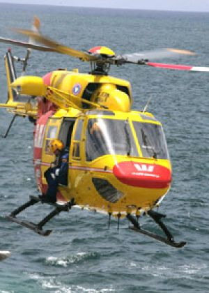 Surf Life Saving WA's Westpac rescue helicopter.