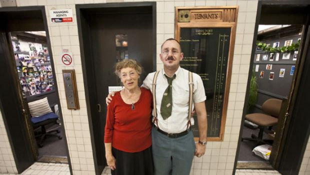 Joan McQueen and Dimitri Bradas, who run the lifts in the Nicholas Building.