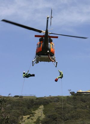 DSE fire-fighting training at Mt Buller.