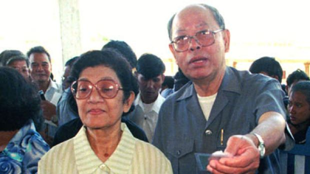 Former Khmer Rouge ministers...Ieng Sary and his wife, Ieng Thirith, face trial.