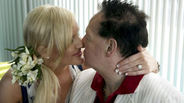 The happy couple ... Geoffrey and Brynne Edelsten