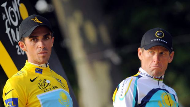 """Falling out . . . """"We are not making it up. It's there"""", says Lance Armstrong about his feud with Spanish cyclist ..."""
