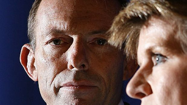 Number one and number two ... Tony Abbott and Julie Bishop.