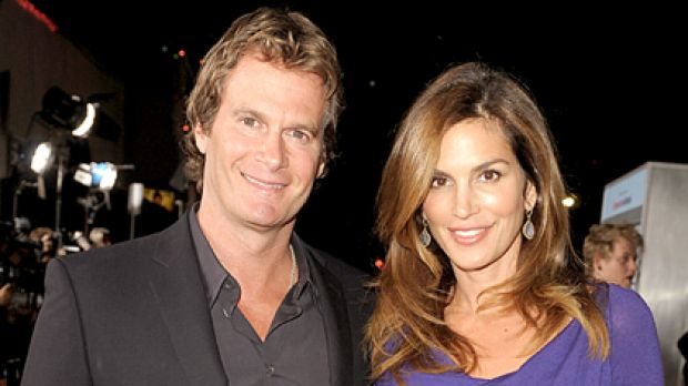 Forty-something sex appeal ... Cindy Crawford and husband Rande Gerber.