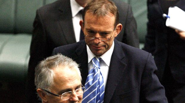 Blast ... Malcolm Turnbull and Tony Abbott in happier times.