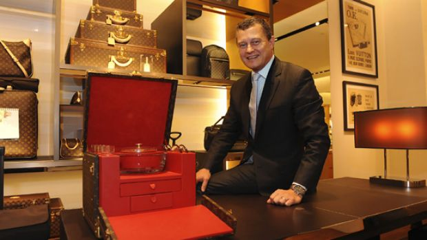 President of  Louis Vuitton Asia Pacific, Jean Baptiste Debains, at the new Chadstone shop.