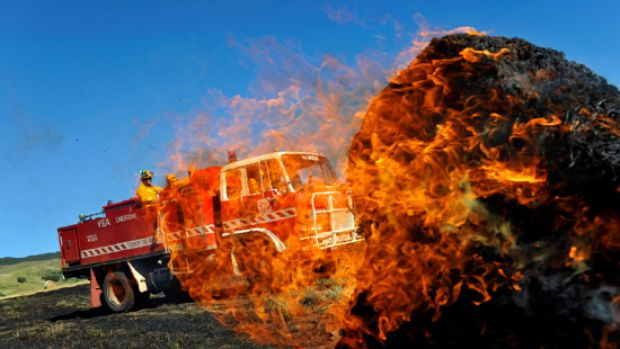 Limestone, Murrindindi and Yea CFA brigades put out a crop fire that was started when a machinery cutting a crop struck ...