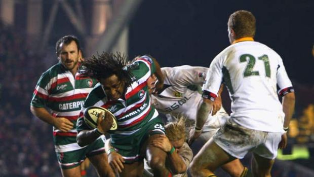 Northern exposure . . .  discarded Wallaby Lote Tuqiri in action for Leicester Tigers against the Springboks in a ...
