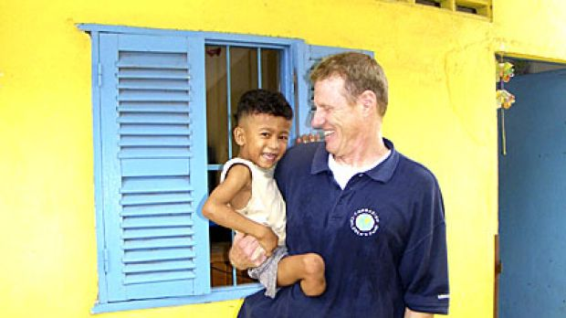 New life: Scott Neeson is improving the lives of Cambodia's suffering children.