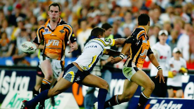Passing as a great ...Tigers superstar Benji Marshall sets up one of the most memorable grand final tries of all time ...
