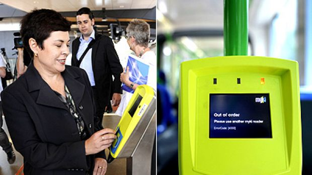 Transport Minister Lynne Kosky launches myki at North Melbourne station yesterday: ''Commuters will start to see how ...