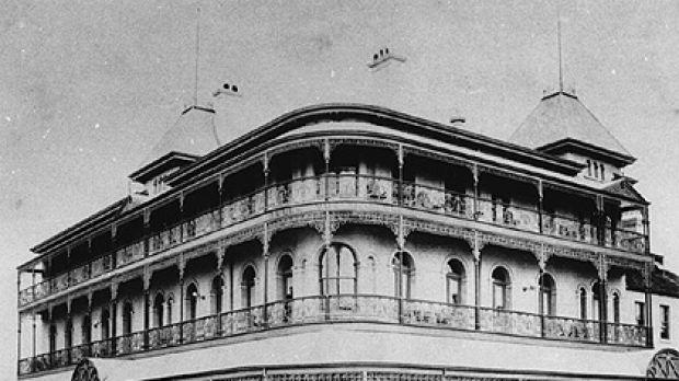 Demolished ... Brisbane's Bellevue Hotel.
