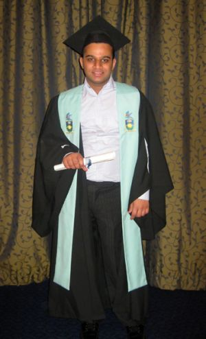 Dead at 21 ... Nitin Garg had recently completed an accounting degree.