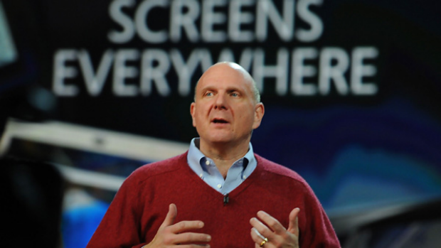 Microsoft CEO Steve Ballmer gives the keynote address at the 2010 International Consumer Electronics Show in Las Vegas.