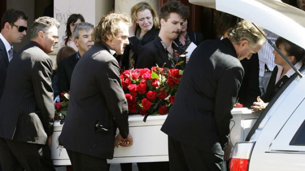 The funeral for Rowland Howard at Sacred Heart Church in St Kilda.