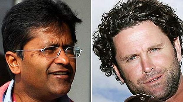 """""""Personal distress"""" ... Chris Cairns, right, is suing Lalit Modi."""