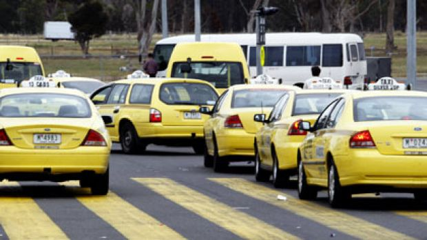 The cabbies were lured with the promise of an airport fare.