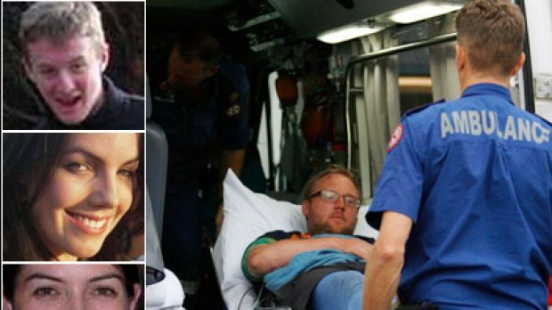 Main: Chris Delaney, brother of Nick, arrives at Nepean Hospital. Top: Nick Delaney, 15, who died on the walk seen in ...