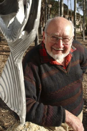 Lifelong passion ... Errol Davis was the instigator of the sculpture park in the grounds of Macquarie University.