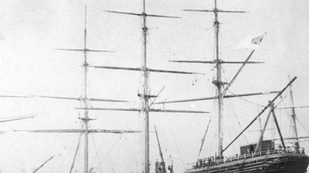 Rebel yell ... the Shenandoah being repaired in Melbourne in 1865.