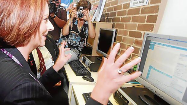 Julia Gillard at the launch of the My School Website at Tempe High School in Sydney.