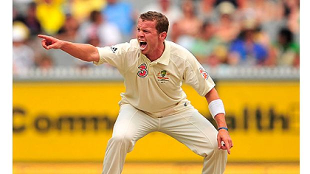 Peter Siddle appeals for a wicket at the MCG in December.