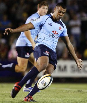 Long day ... Kurtley Beale swapped the courtroom for the field just in time for last night's trial.
