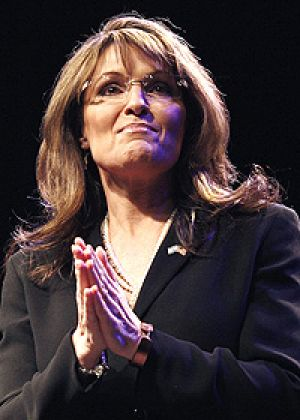 """Sarah Palin: """"To win that war, we need a commander-in-chief, not a professor of law""""."""