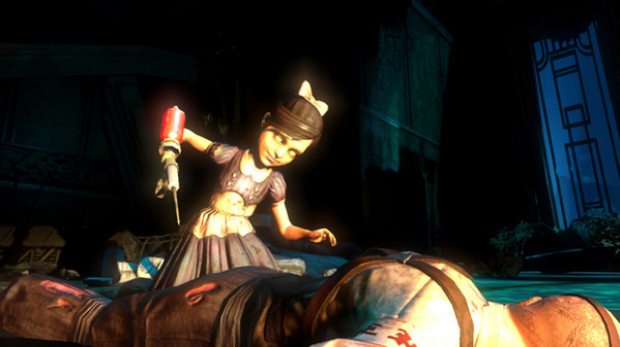 """""""Wild, twisted and crazy"""" ... a screen grab from BioShock 2."""