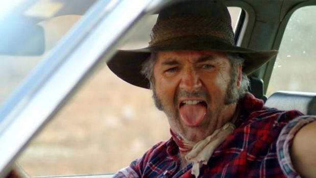 John Jarratt in Wolf Creek.