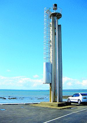 Tourist attraction? The 'lighthouse' that is about to be re-installed at Cleveland Point.