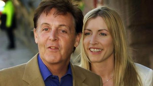 Split ... Paul McCartney and Heather Mills.