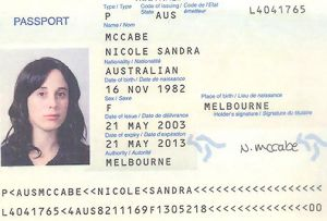 A photograph released by the Dubai police on February 24, 2010, allegedly shows the Australian passport of Nicole Sandra ...